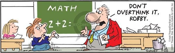 Comic Strip Bob Thaves Tom Thaves  Frank and Ernest 2011-09-28 math teacher