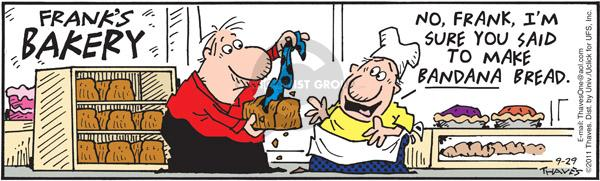 Comic Strip Bob Thaves Tom Thaves  Frank and Ernest 2011-09-29 ingredient