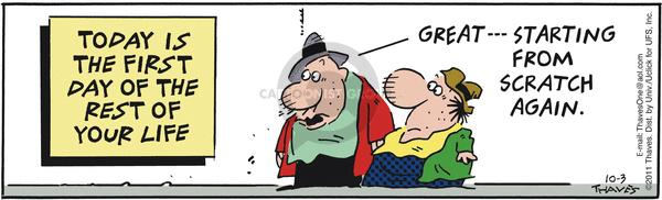 Comic Strip Bob Thaves Tom Thaves  Frank and Ernest 2011-10-03 circumstance