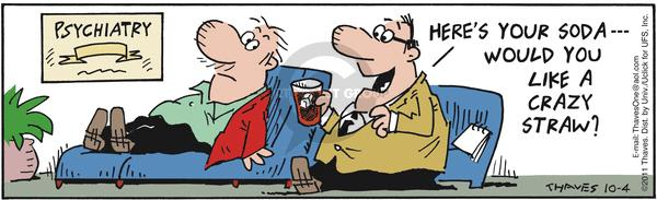 Comic Strip Bob Thaves Tom Thaves  Frank and Ernest 2011-10-04 crazy