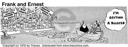 Comic Strip Bob Thaves Tom Thaves  Frank and Ernest 1972-11-07 effort