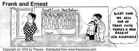Comic Strip Bob Thaves Tom Thaves  Frank and Ernest 1972-11-13 salesman