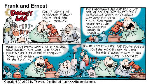 Comic Strip Bob Thaves Tom Thaves  Frank and Ernest 2000-01-16 vaccine
