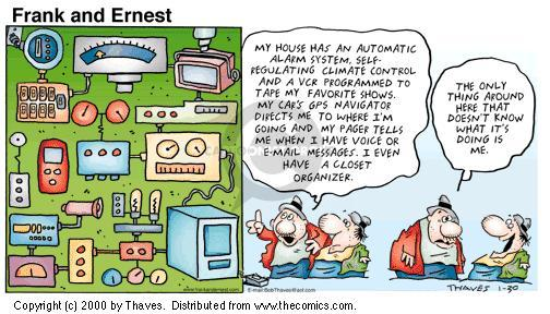 Comic Strip Bob Thaves Tom Thaves  Frank and Ernest 2000-01-30 GPS