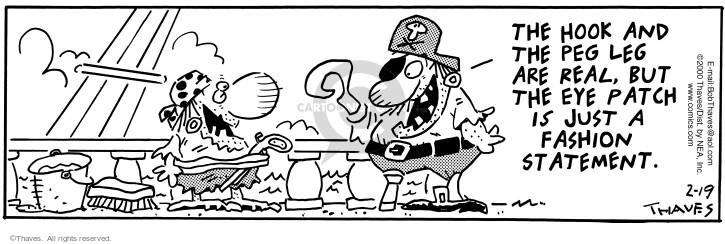 Cartoonist Bob Thaves Tom Thaves  Frank and Ernest 2000-02-19 hook