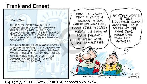 Comic Strip Bob Thaves Tom Thaves  Frank and Ernest 2000-02-27 equal