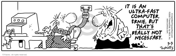 Comic Strip Bob Thaves Tom Thaves  Frank and Ernest 2000-03-03 desk