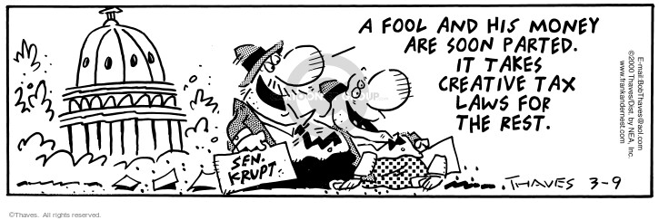 Comic Strip Bob Thaves Tom Thaves  Frank and Ernest 2000-03-09 Federal government