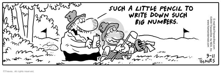 Cartoonist Bob Thaves Tom Thaves  Frank and Ernest 2000-03-11 athletics