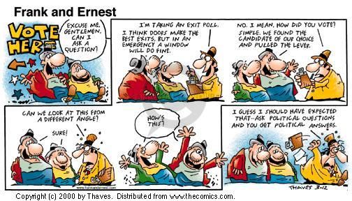 Comic Strip Bob Thaves Tom Thaves  Frank and Ernest 2000-03-12 angle