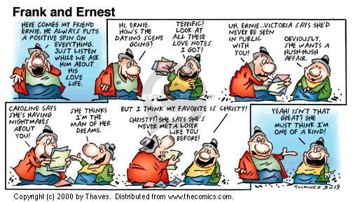 Comic Strip Bob Thaves Tom Thaves  Frank and Ernest 2000-03-19 love life