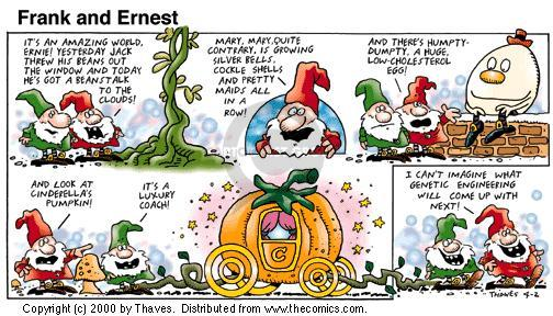 Comic Strip Bob Thaves Tom Thaves  Frank and Ernest 2000-04-02 Cinderella