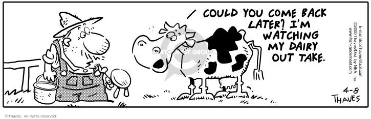 Cartoonist Bob Thaves Tom Thaves  Frank and Ernest 2000-04-08 postpone