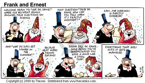 Comic Strip Bob Thaves Tom Thaves  Frank and Ernest 2000-04-23 midnight