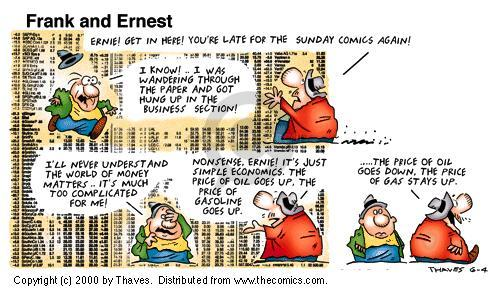 Comic Strip Bob Thaves Tom Thaves  Frank and Ernest 2000-06-04 inflation