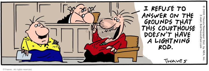 Comic Strip Bob Thaves Tom Thaves  Frank and Ernest 2000-07-11 courthouse