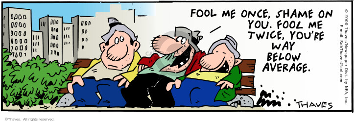 Comic Strip Bob Thaves Tom Thaves  Frank and Ernest 2000-07-17 performance