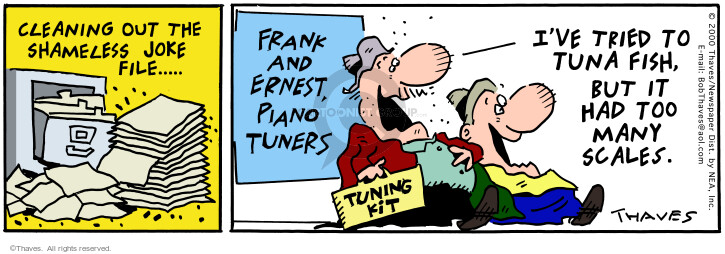 Comic Strip Bob Thaves Tom Thaves  Frank and Ernest 2000-07-19 tune