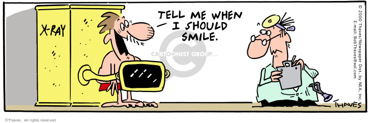 Comic Strip Bob Thaves Tom Thaves  Frank and Ernest 2000-07-26 smile