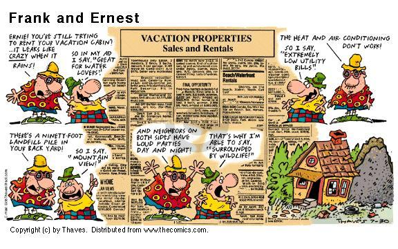 Comic Strip Bob Thaves Tom Thaves  Frank and Ernest 2000-07-30 sale
