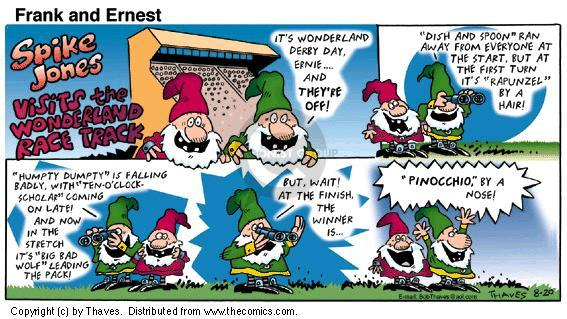 Comic Strip Bob Thaves Tom Thaves  Frank and Ernest 2000-08-20 Jones