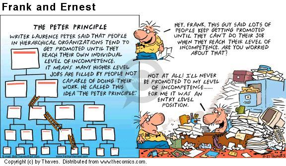 Comic Strip Bob Thaves Tom Thaves  Frank and Ernest 2000-08-27 employee