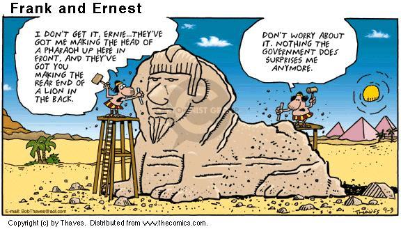 Comic Strip Bob Thaves Tom Thaves  Frank and Ernest 2000-09-03 ancient Egypt