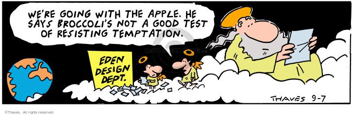Cartoonist Bob Thaves Tom Thaves  Frank and Ernest 2000-09-07 good