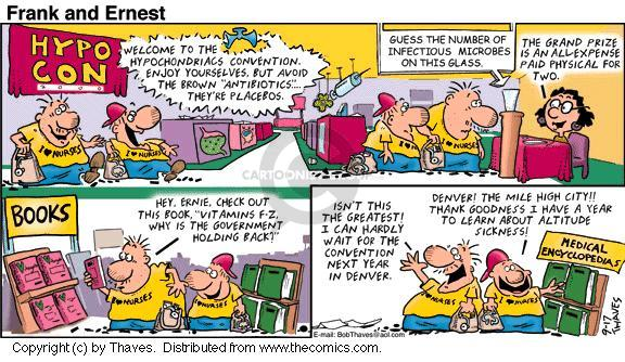Comic Strip Bob Thaves Tom Thaves  Frank and Ernest 2000-09-17 air sickness