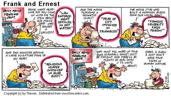 Cartoonist Bob Thaves Tom Thaves  Frank and Ernest 2000-09-24 star