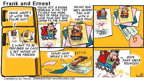 Comic Strip Bob Thaves Tom Thaves  Frank and Ernest 2000-10-01 no problem