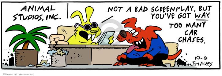 Cartoonist Bob Thaves Tom Thaves  Frank and Ernest 2000-10-06 bad dog