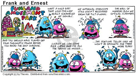 Comic Strip Bob Thaves Tom Thaves  Frank and Ernest 2000-10-15 future technology