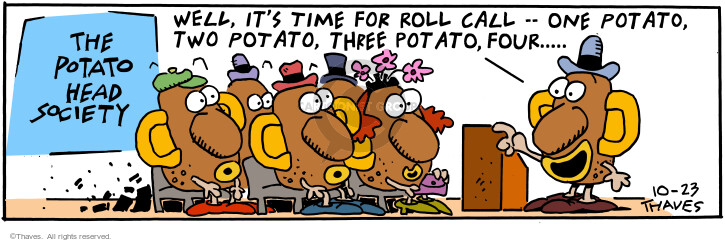 Comic Strip Bob Thaves Tom Thaves  Frank and Ernest 2000-10-23 potato