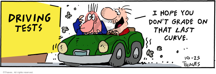 Comic Strip Bob Thaves Tom Thaves  Frank and Ernest 2000-10-25 department of motor vehicles