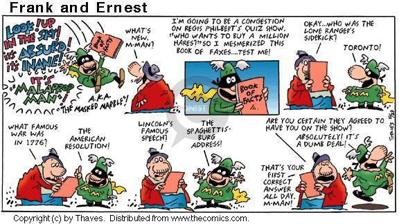 Comic Strip Bob Thaves Tom Thaves  Frank and Ernest 2000-10-29 absolutely