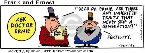 Cartoonist Bob Thaves Tom Thaves  Frank and Ernest 2000-12-01 biology