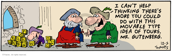 Comic Strip Bob Thaves Tom Thaves  Frank and Ernest 2000-12-05 alternate