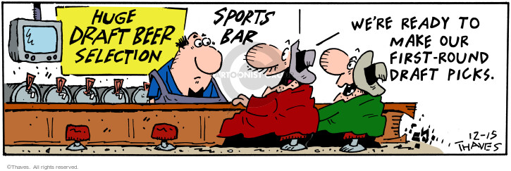 Comic Strip Bob Thaves Tom Thaves  Frank and Ernest 2000-12-15 sports bar