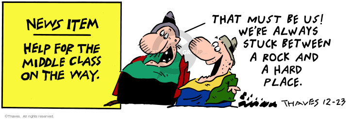 Comic Strip Bob Thaves Tom Thaves  Frank and Ernest 2000-12-23 middle class