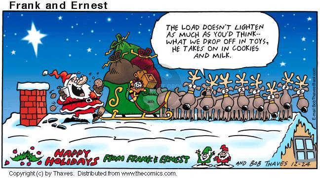 Comic Strip Bob Thaves Tom Thaves  Frank and Ernest 2000-12-24 Christmas present