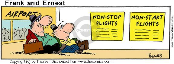 Comic Strip Bob Thaves Tom Thaves  Frank and Ernest 2001-01-02 airline travel