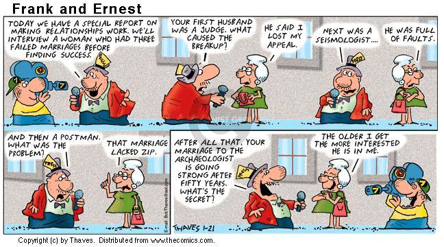 Comic Strip Bob Thaves Tom Thaves  Frank and Ernest 2001-01-21 attempt