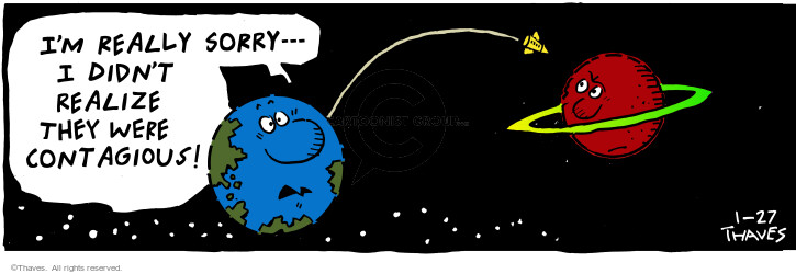 Comic Strip Bob Thaves Tom Thaves  Frank and Ernest 2001-01-27 rocket