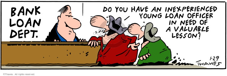 Comic Strip Bob Thaves Tom Thaves  Frank and Ernest 2001-01-29 financial institution