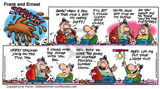 Comic Strip Bob Thaves Tom Thaves  Frank and Ernest 2001-02-11 fall