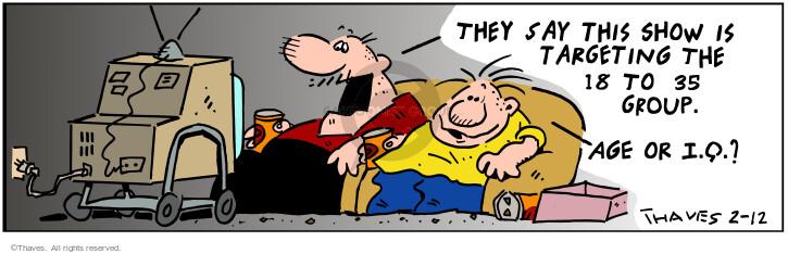 Comic Strip Bob Thaves Tom Thaves  Frank and Ernest 2001-02-12 program