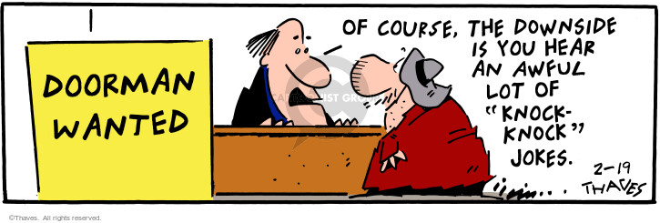 Comic Strip Bob Thaves Tom Thaves  Frank and Ernest 2001-02-19 employee