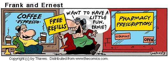 Comic Strip Bob Thaves Tom Thaves  Frank and Ernest 2001-02-26 have fun