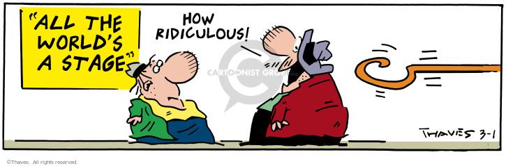 Cartoonist Bob Thaves Tom Thaves  Frank and Ernest 2001-03-01 hook